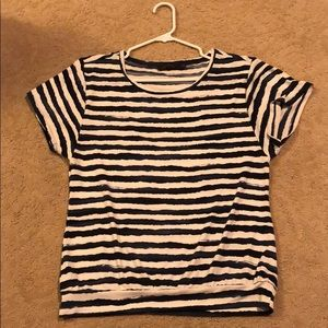 Navy and white stripped shirt